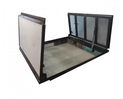 Двухстворчатый люк под плитку в подвал тип Плита