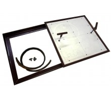 Напольный люк под плитку со съемной створкой 20х20 см тип Плита