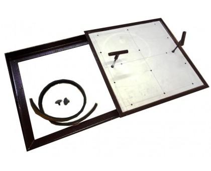 Напольный люк под плитку со съемной створкой 50х50 см тип Плита