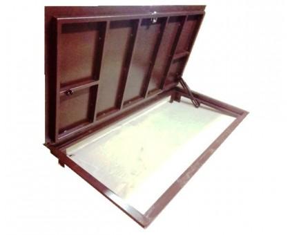 Стальной напольный люк тип Сталь 100х150 см